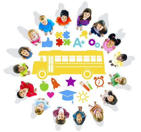 Group of Children and School Concept photo