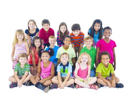 Grote groep kinderen Stockfoto