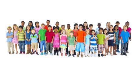 Grote groep kinderen