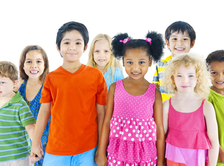 mixed race ethnicity: Group of children