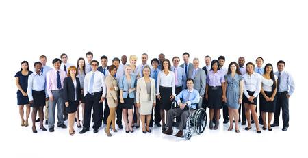 persona en silla de ruedas: Grupo grande de hombres de negocios