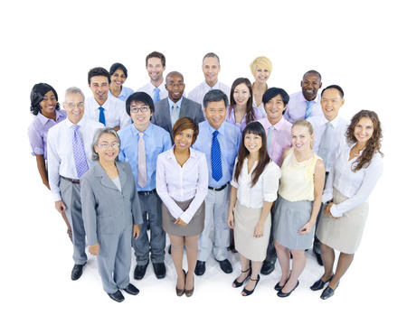 team success: Large Group of Business People Stock Photo