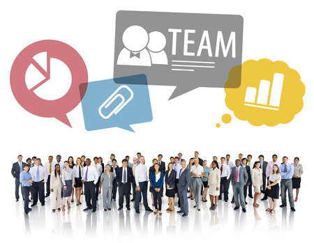 Large Group of Multiethnic Diverse Business People  photo