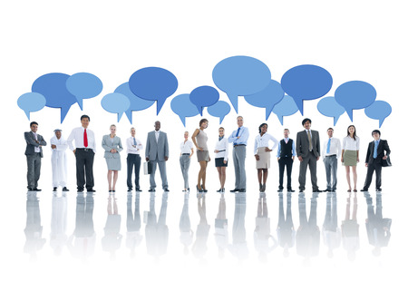 recommendations: Group of Business People Meeting Stock Photo