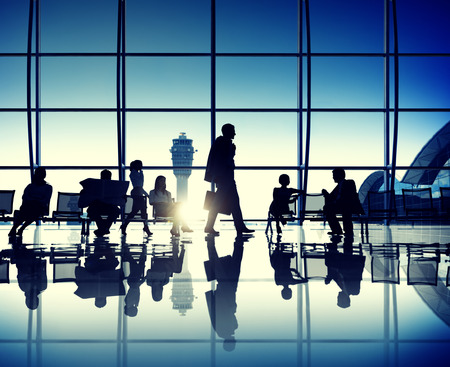 airplane window: International departures