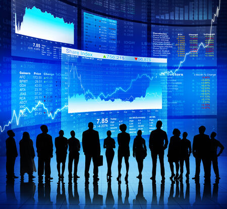 Business Communication at Stock Market photo