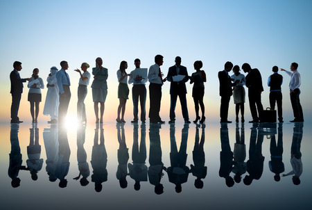 expertise concept: Group of Business People Meeting Stock Photo