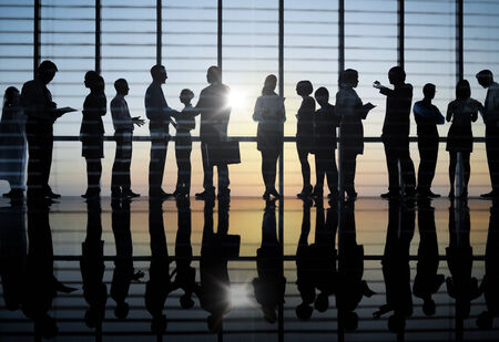 analysed: Group of Business People Meeting Stock Photo