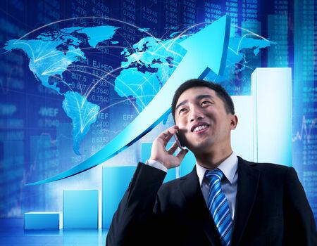 Global business communication. photo