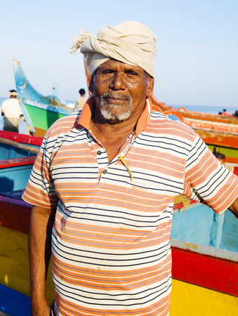 india fisherman: Indian Fisherman, Kerela, India. Stock Photo