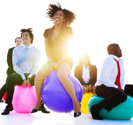 ビジネスの人々 はリラックスして楽しい時を過します。 写真素材