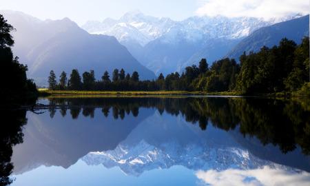 마운트 쿡, 뉴질랜드 호수 슨. 스톡 콘텐츠