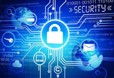 security search: Internet Security System Stock Photo