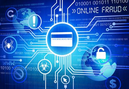 デジタル オンライン詐欺コンセプトのイメージを生成