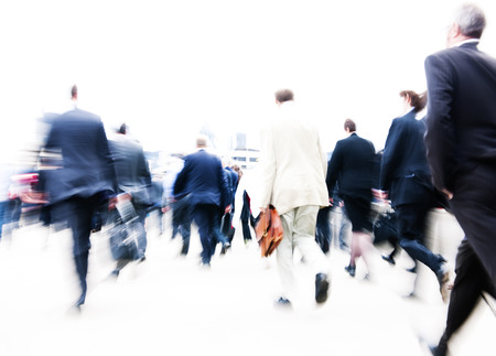 london: People rushing to work. Stock Photo
