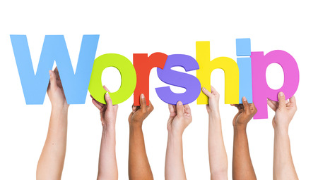 Diverse Hands Holding The Word Worship