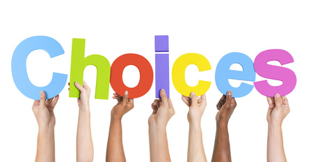 financial insurance: Diverse Hands Holding The Word Choices