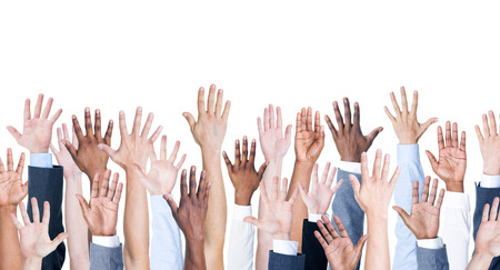 Handen omhoog.