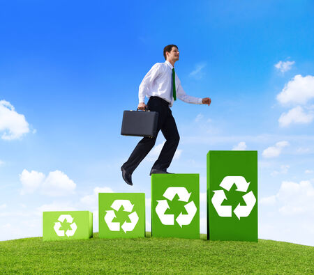 recycling symbol: Green Business Recycling Symbol