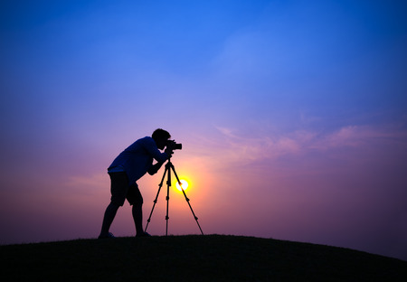 Silhouette of a Photographer photo