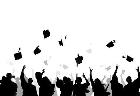 Diverse International Students Celebrating Graduation photo
