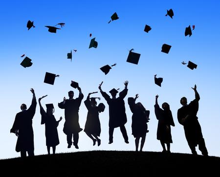 Group Of Diverse International Students Celebrating Graduation photo