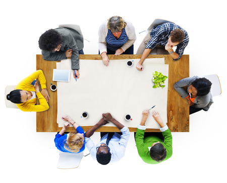 Multiethnic Group of People in Meeting