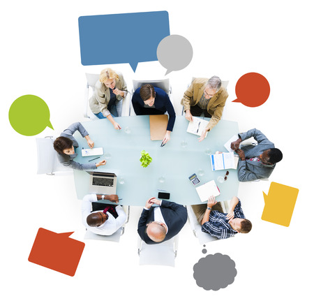 Business People Around The Conference Table Having A Meeting Stock Photo - 31311062