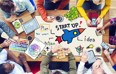 startup: Diverse People Working and Startup Business Concept