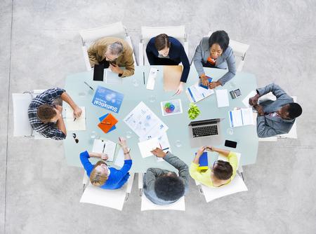 Group Business Peopl Bespreken Zaken Isuses Stockfoto