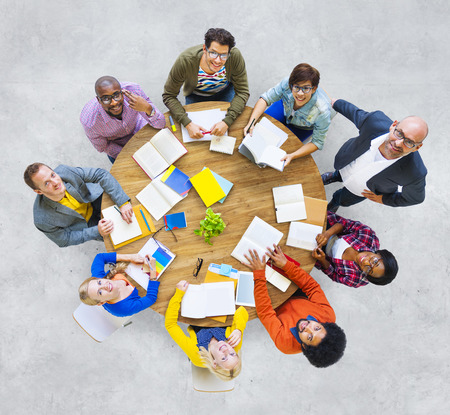 Group of Multiethnic People Looking Up Reklamní fotografie