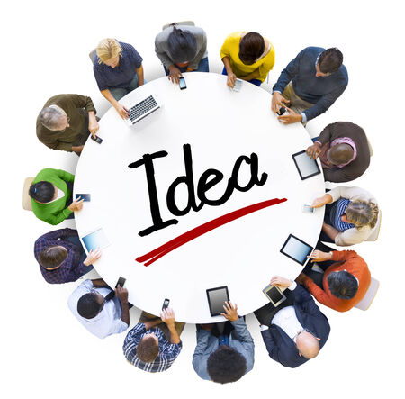People Social Networking and Idea Concept photo