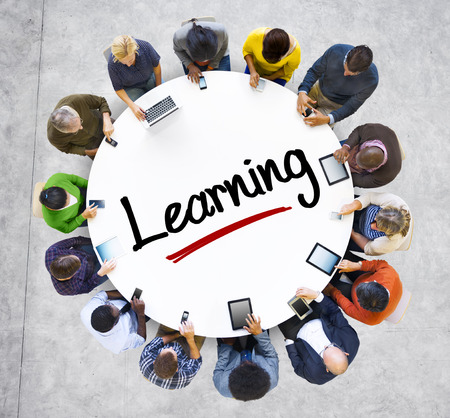 digital learning: People and Learning Concept with Textured Effect