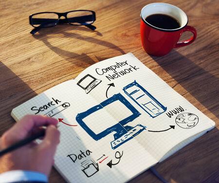 rete di computer: Imprenditore Brainstorming proposito di Network Computer