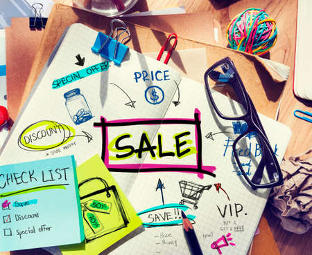 note pad: Note Pad with Sale Concepts