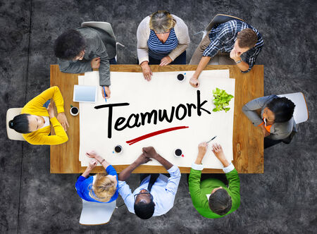 People in a Meeting and Teamwork Concepts photo