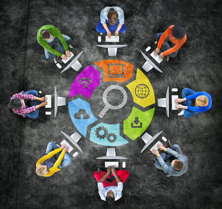 People Social Networking and SEO Concepts photo