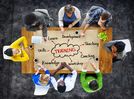 Diverse People and Training Concepts photo