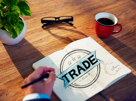 global trade: Businessman Brainstorming About Global Trade