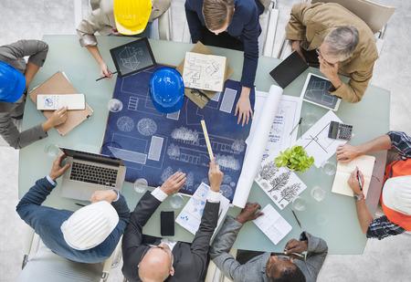 Groupe des architectes de planification Banque d'images - 31312595