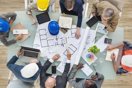 arquitecto: Arquitectos e Ingenieros de Planificación en un nuevo proyecto