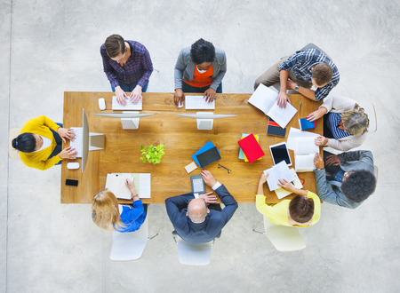 various occupations: Group of Diverse Various Occupations People Meeting Stock Photo