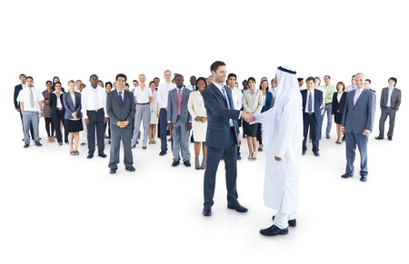 mixed age: Multi-ethnic group of business person had agreement