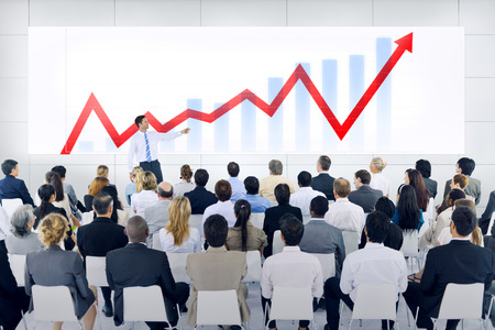 sales meeting: Business Presentation Stock Photo