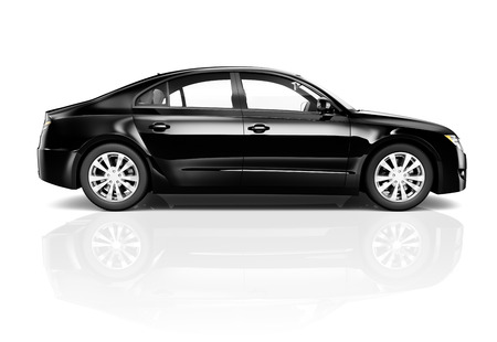 car isolated: Black Car Stock Photo