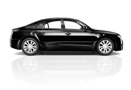 Black Car Standard-Bild