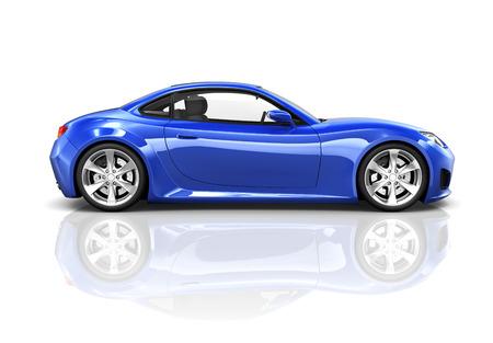 Luxe blauwe sportwagen