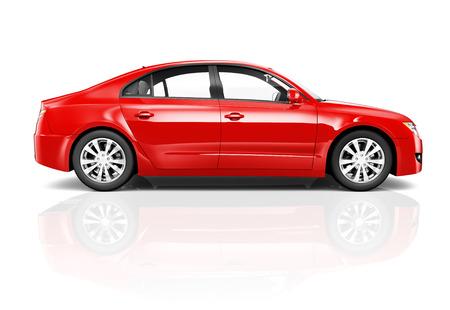Rotes Auto  Standard-Bild
