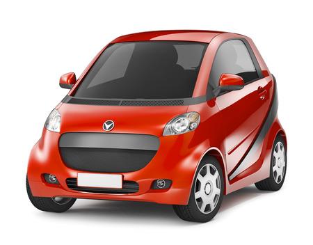 Red Hybrid car photo