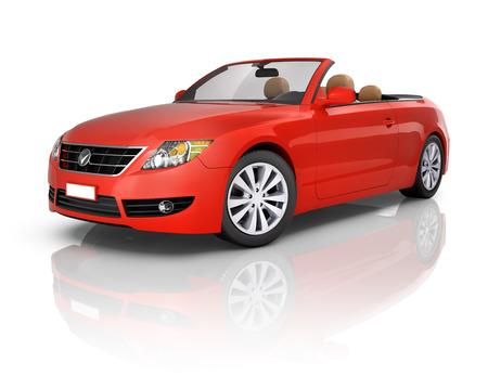 coche: Auto rojo